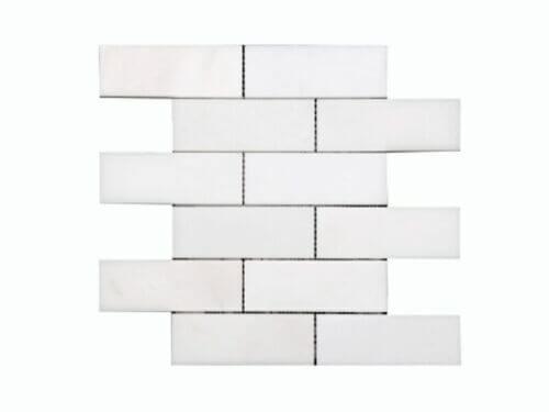 26SW09 2×6 Polished Pure White Marble Stone Subway Mosaics