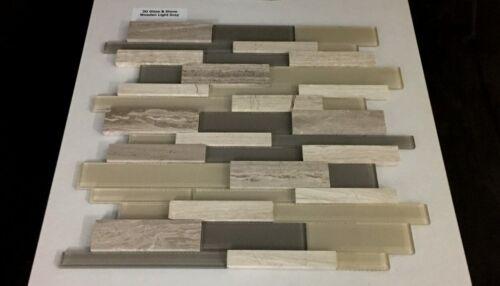 3D Glass Stone Wooden Light Grey Mosaics 1 1