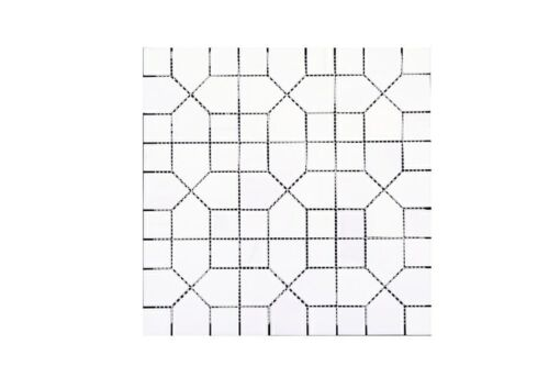 70STM036 Ariston White Puzzle Square Polsihed Marble Mosaics