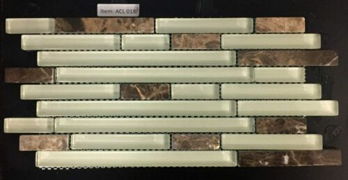 ACL 018P Glass and Stone Backsplash / Mosaic