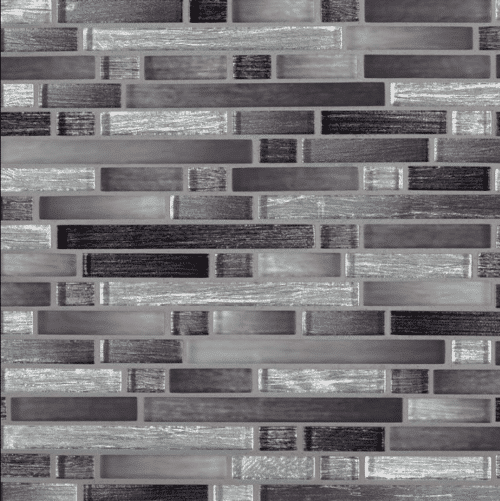 AKAYA NERO INTERLOCKING 8MM Glass Mosaics