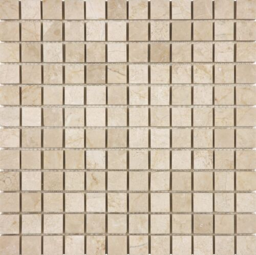 ALLURE CREMA 1X1 MARBLE MOSAICS POLISHED 76 359 HONED 76 363