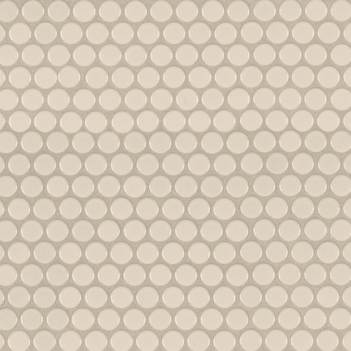 ALMOND GLOSSY PENNY ROUND Porcelain MOSAICS