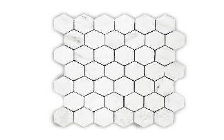 ALPS ORIENTAL WHITE 122 HEXAGON POLISHED MG602 1