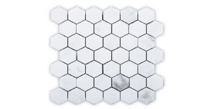 ALPS ORIENTAL WHITE 222 HEXAGON MATT MG711