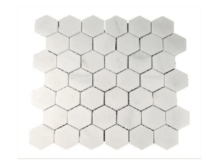 ALPS ORIENTAL WHITE 222 HEXAGON POLISHED MG608