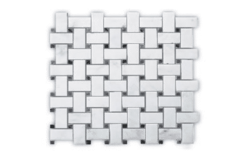 ALPS ORIENTAL WHITE BASKET WEAVE POLISHED MG670