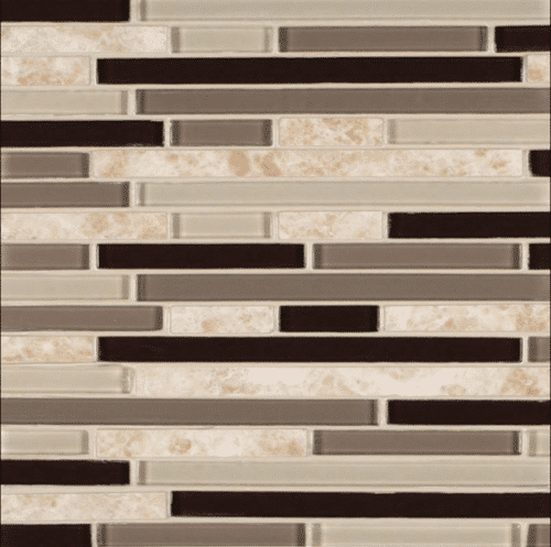 AMALFI CAFE INTERLOCKING PATTERN 6MM Glass Stone Mosaics