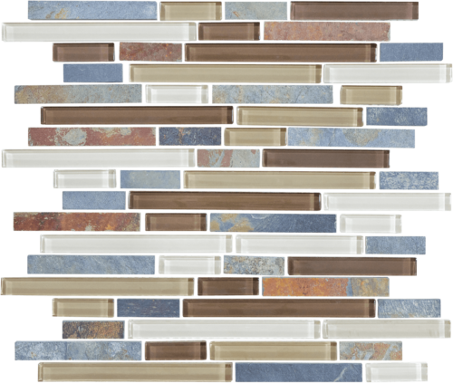 AMBER TEA 35 023 BLISS GLASS AND SLATE LINEAR BLEND MOSAICS 2