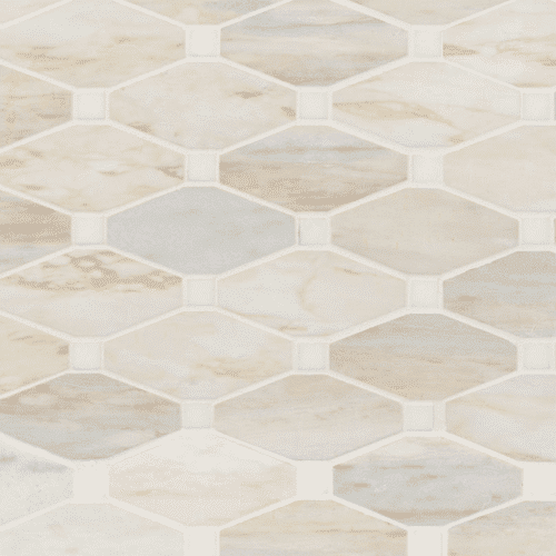 ANGORA ELONGATED OCTAGON POLISHED Marble Mosaics