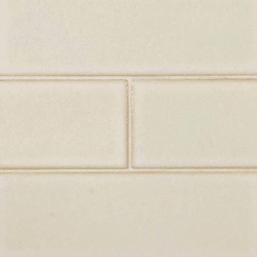 ANTIQUE WHITE GLAZED HANDCRAFTED 4X12 Ceramic Mosaics