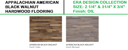 APPALACHIAN BLACK WALNUT HARDWOOD FLOORING ERA DESIGN COLLECTION 1