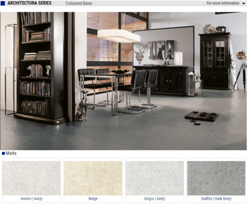 ARCHITECTURA SERIES Matte Porcelain Tiles Color Avorio Ivory Beige Grigio Grey Grafito Dark Grey Size 12x24 1 1