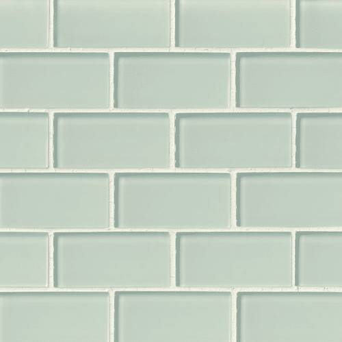 ARCTIC ICE GLASS SUBWAY TILE 2X4 Crystallized Glass Mosaics