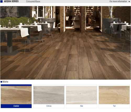 Aequa Series Matte Wood Look Porcelain Tiles Color Castor Cirrus Nix Tur Size 8x32 1 1