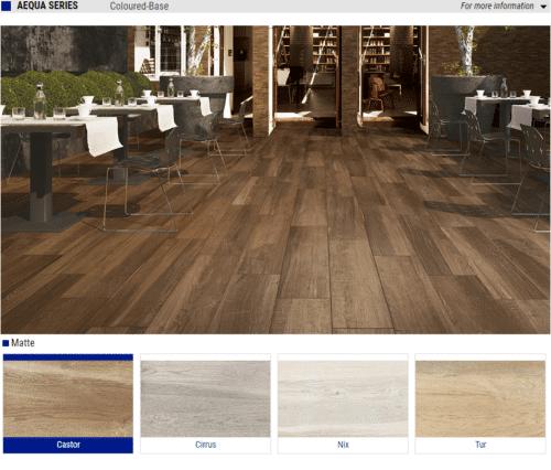 Aequa Series Matte Wood Look Porcelain Tiles – Color: Castor, Cirrus, Nix, Tur – Size: 8×32