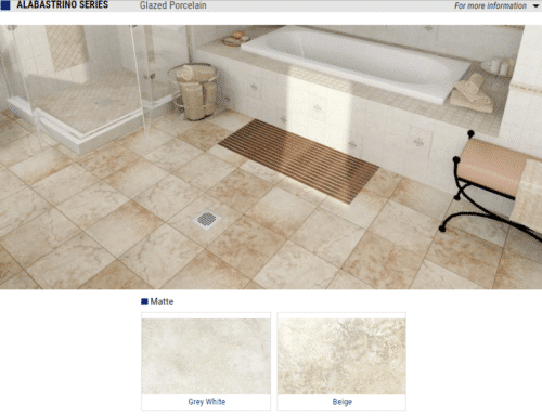 Alabastrino Glazed Porcelain Tile Color Grey White Beige Size 17.7 x 17.7 13 x 13 1