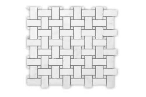 AlpsOriental White Basket Weave Matt BAS2548H MG606