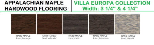Appalachian Hardwood Maple Hardwood Flooring – Villa Europa Collection