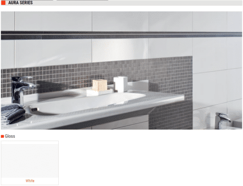 Aura Series Gloss Cermic Wall Tiles White 12x24 1 1