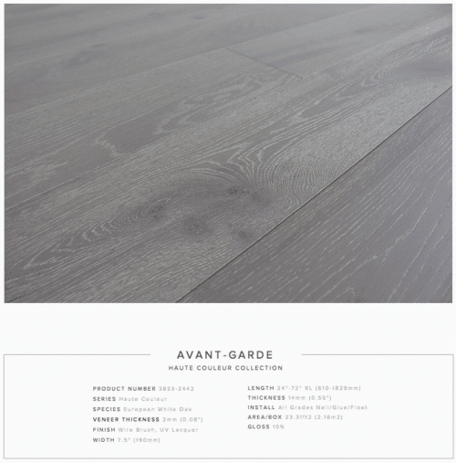 Avant Garde Pravada Haute Couleur Collection European White Oak Engineered Floors 1