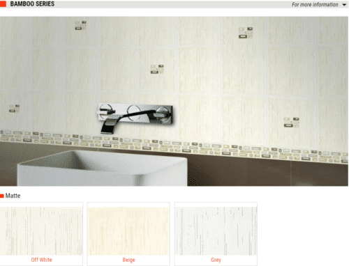 Bamboo Series Matte Ceramic Wall Tiles Off White Beige Grey 6 x 8 1
