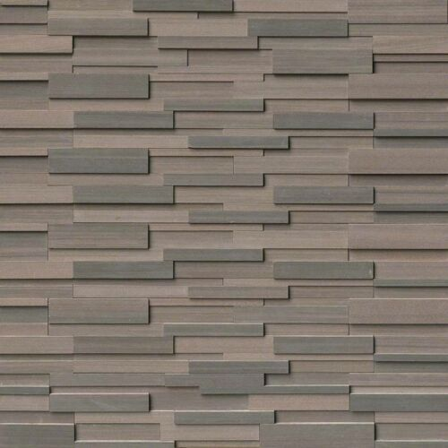 Brown Wave Stacked Stone Panels Ledgerstone