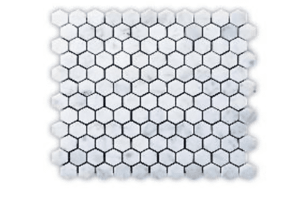 CARRARA 122 HEXAGON POLISHED MG632