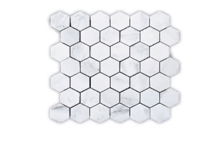 CARRARA 222 HEXAGON POLISHED MG636