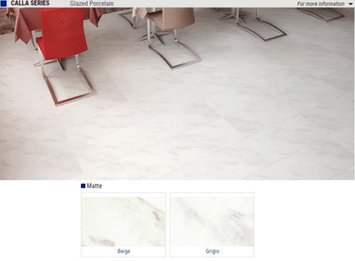 Calla Series Matte Glazed Porcelain Tile Color Beige Grigio Size 12x24 1 1