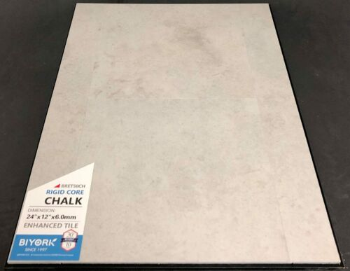Chalk Biyork 6mm SPC Vinyl Tile Flooring Rigid Core – Enhanced Tile