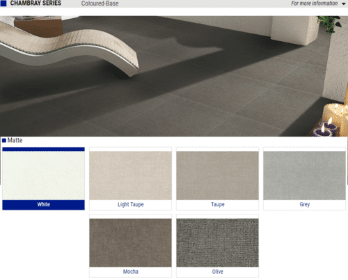 Chambray Series Matte Porcelain Tiles Color White Light Taupe Taupe Grey Mocha Olive Size 12x24 1 1