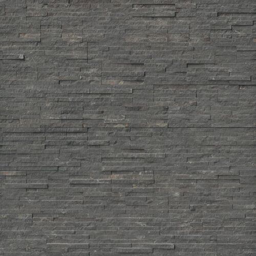 Charcoal Pencil Stacked Stone Panels Ledgerstone