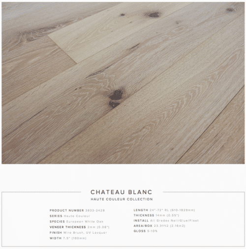 Chateau Blanc Pravada Haute Couleur Collection European White Oak Engineered Floors 1