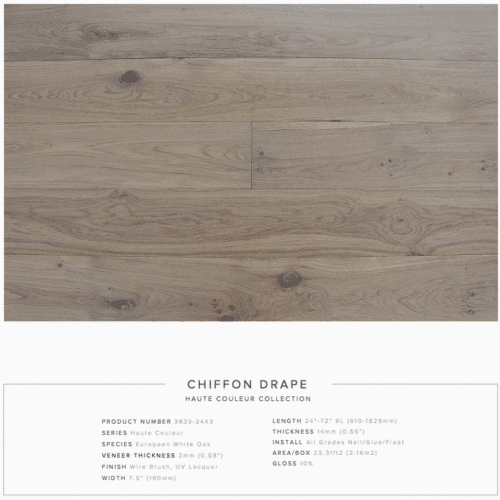 Chiffon Drape Pravada Haute Couleur Collection European White Oak Engineered Floors 1