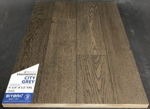 City Grey Biyork Oak Engineered Hardwood Flooring