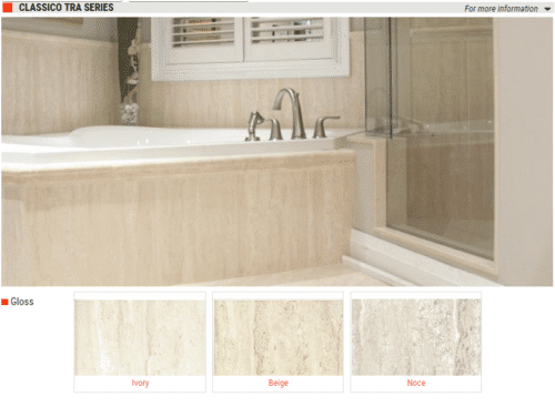 Classic Tra Series Gloss Ceramic Wall Tile Ivory Beige Noce 10 x 16 8 x 10 1