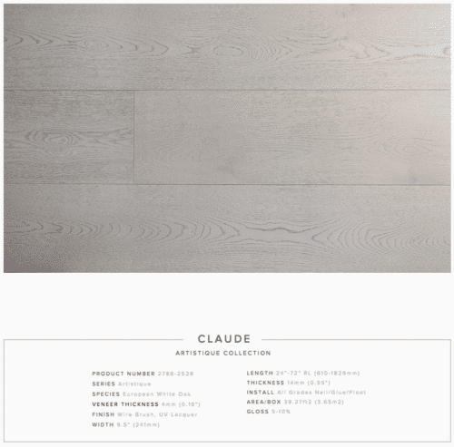 Claude Pravada Artistique Collection Oak Engineered Hardwood Floors 1