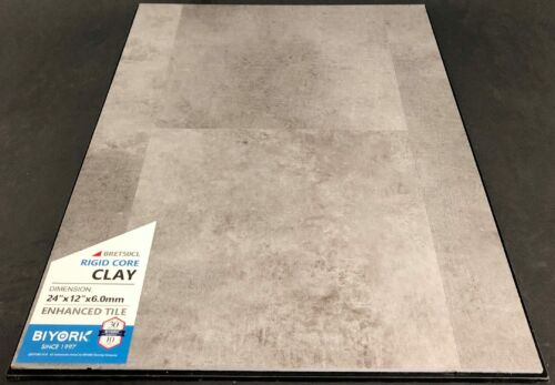 Clay Biyork 6mm SPC Vinyl Tile Flooring Rigid Core – Enhanced Tile