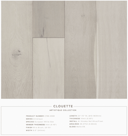 Clouette Pravada Artistique Collection Oak Engineered Hardwood Floors 1