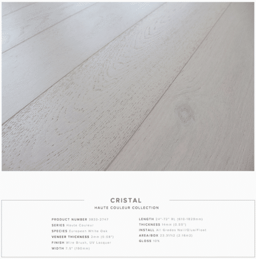 Cristal Pravada Haute Couleur Collection European White Oak Engineered Floors 1