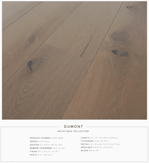 Dumont Pravada Artistique Collection Oak Engineered Hardwood Floors 1