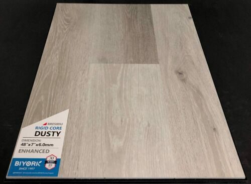 Dusty Biyork 6mm SPC Vinyl Plank Flooring Rigid Core – Enhanced