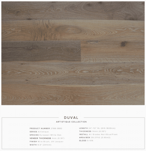Duval Pravada Artistique Collection Oak Engineered Hardwood Floors 1