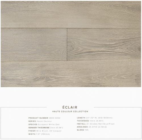 Eclair Pravada Haute Couleur Collection European White Oak Engineered Floors 1
