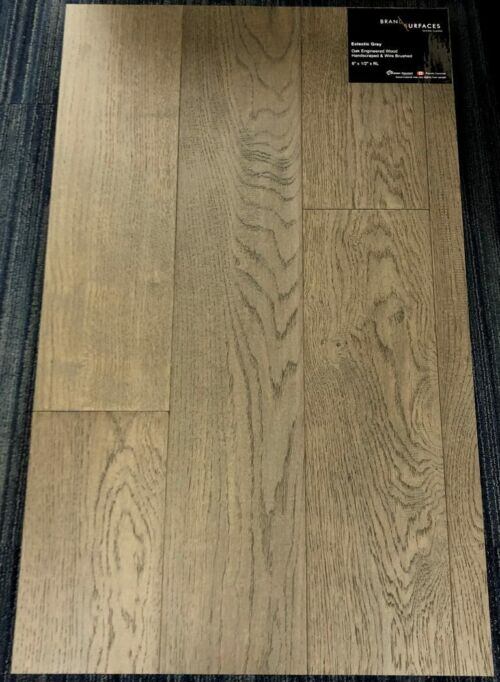Eclectic Grey Brand Surfaces Oak Handscraped Engineered Hardwood Flooring 1 1