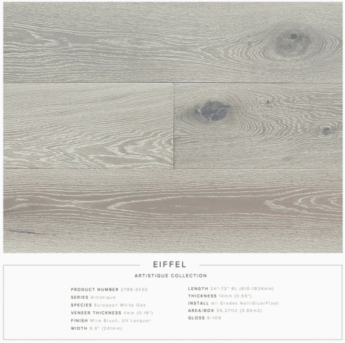 Eiffel Pravada Artistique Collection Oak Engineered Hardwood Floors 1