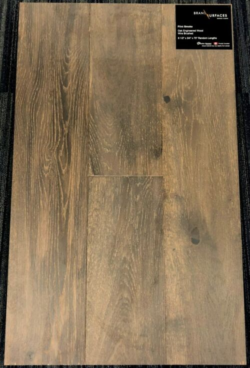 Flint Smoke Brand Surfaces Oak Wirebrushed Engineered Hardwood Flooring scaled 1 1
