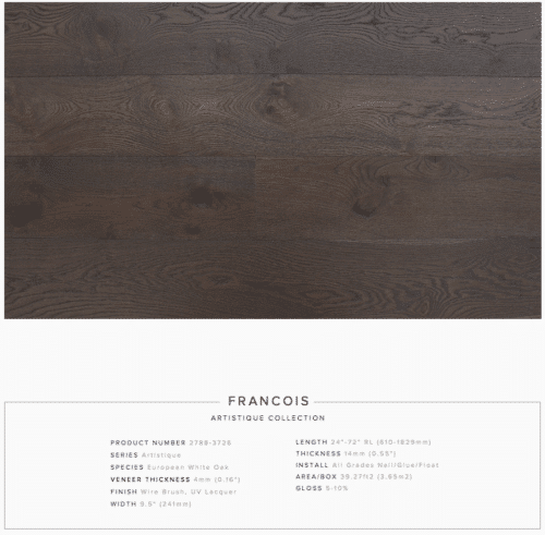 Francois Pravada Artistique Collection Oak Engineered Hardwood Floors 1
