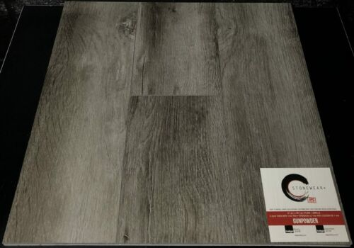 GUNPOWDER 5.2MM STONEWEAR+ SPC VINYL PLANK FLOORING WITH PAD